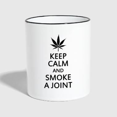 keep calm and smoke a joint - Kubek dwukolorowy