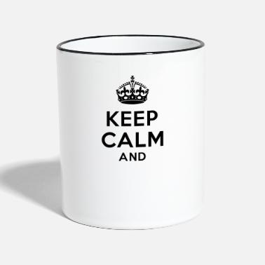Keep Calm Keep calm and Your Text - Mug bicolore