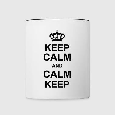keep_calm_and_calm_keep_g1 - Tvåfärgad mugg