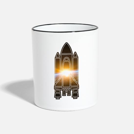 Starry Sky Mugs & Drinkware - Space Shuttle - Earth - Space - Two-Tone Mug white/black
