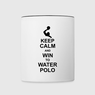 keep_calm_and_win_to_water_polo_g1 - Taza en dos colores