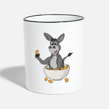 El burro divertido come idea del regalo de la camiseta del cereal - Taza en dos colores