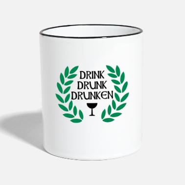 Cool drink drunk drunken - Two-Tone Mug