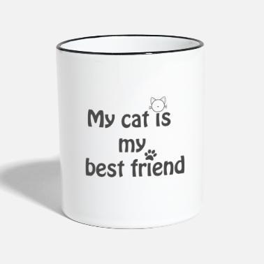 Strunt Min katt är min bästa vän - Kontrastmugg a3071dfe08bcd