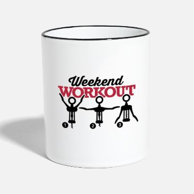 Workout Weekend workout corkscrew - Tasse zweifarbig