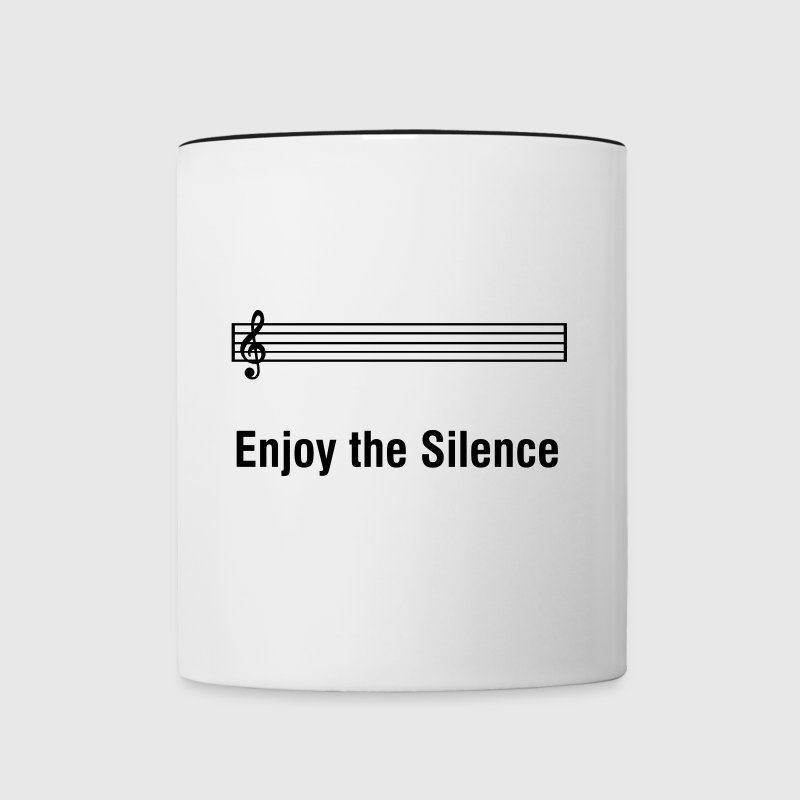 Enjoy The Silence - Grappig muzikant humor - Mok tweekleurig