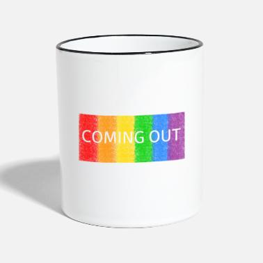 Coming Out Coming out - Two-Tone Mug