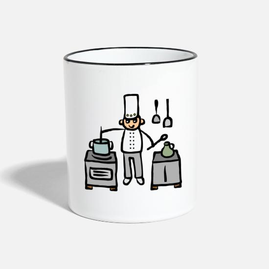 Original Mugs & Drinkware - Cook in the kitchen at the stove while cooking - Two-Tone Mug white/black