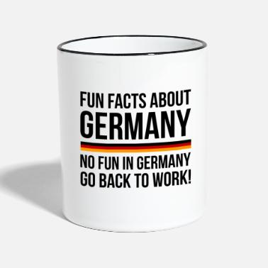 Fun Germany Fun Facts - Tasse zweifarbig