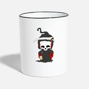 Undead Grim Reaper Halloween Horde Ghosts Gift - Two-Tone Mug