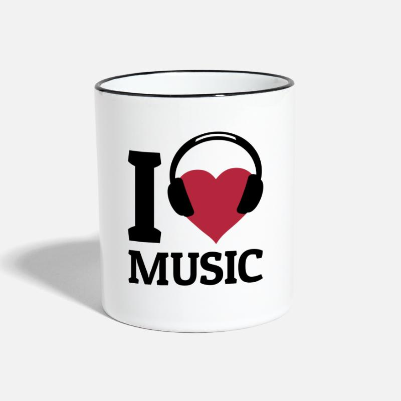Bass Mugs & Drinkware - I love Music - Two-Tone Mug white/black