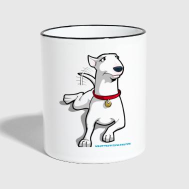 Bull Terrier Cartoon Dog - Contrasting Mug