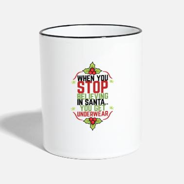 Calm Underwear BELIEVE IN THE CHRISTMAS UNDERWEAR HOHOHO - Two-Tone Mug