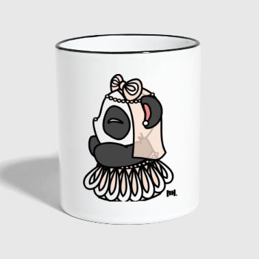 Little Panda Bride - Tasse zweifarbig