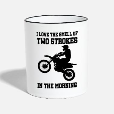 Stroke Two-stroke 2-stroke MX motocross gift gift idea - Two-Tone Mug