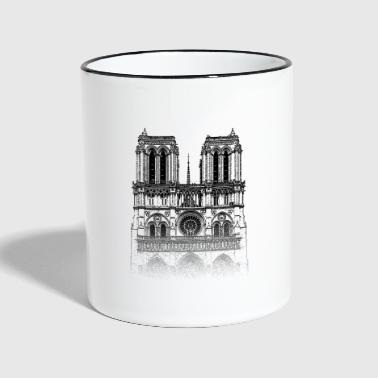 Around The World: Notre Dame - Paris - Tasse zweifarbig