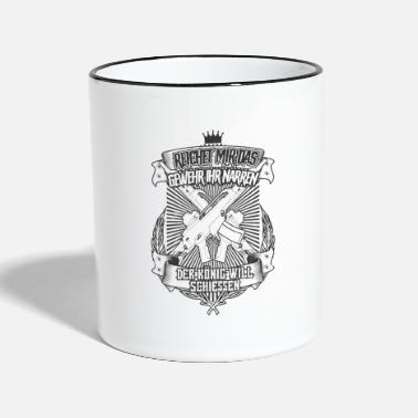 Mission Give Me the Gun The King Will Shoot - Two-Tone Mug