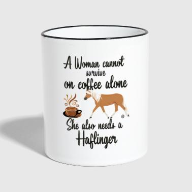 Coffee - Woman- Haflinger MP - Tasse zweifarbig