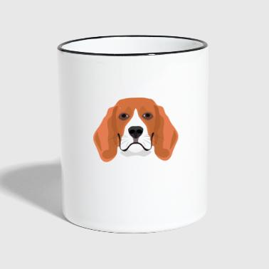 Beagle illustration - Tvåfärgad mugg