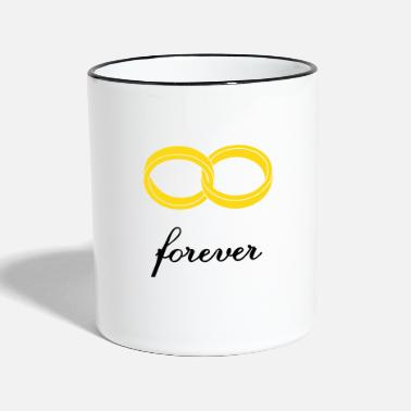 Marriage Infinity Shape wedding rings forever - Two-Tone Mug