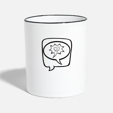Speech speech - Two-Tone Mug