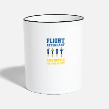 Flight Flight Attendant - Responsible for your safety - Two-Tone Mug