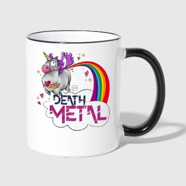 Death Metal Unicorn - Kubek dwukolorowy