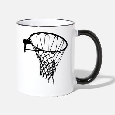 Old basketball basket Freiplatz gambling - Two-Tone Mug