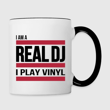 real DJ play vinyl Schallplatte Club turntables - Kubek dwukolorowy