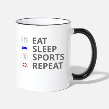 Sports Eat Sleep Sports Repeat - Taza de dos colores