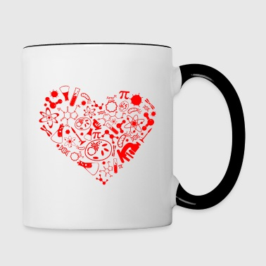 Science heart - Tasse zweifarbig