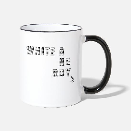 Birthday Mugs & Drinkware - White and Nerdy - White and Nerdig - Two-Tone Mug white/black