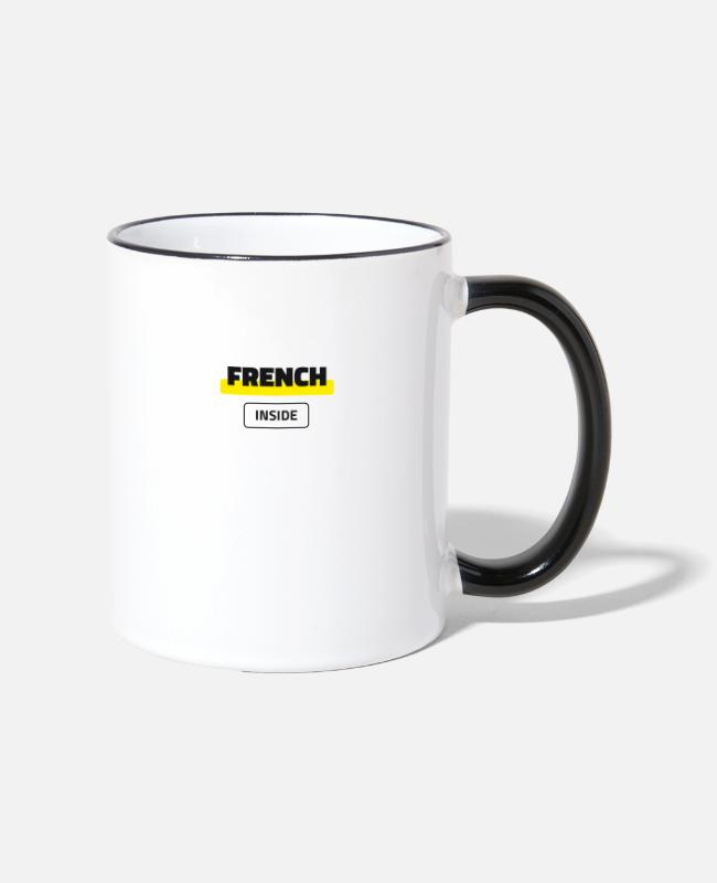 Proud Mugs & Drinkware - French Inside - Two-Tone Mug white/black