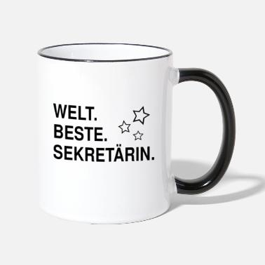 Best Secretary Gift Assistant Office Cup - Mok tweekleurig