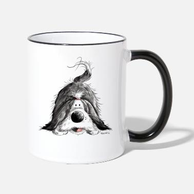 Collie Śmieszne Bearded Collie - Kubek dwukolorowy