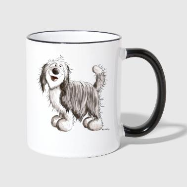 Bearded Collie Drole Bearded Collie - Mug contrasté