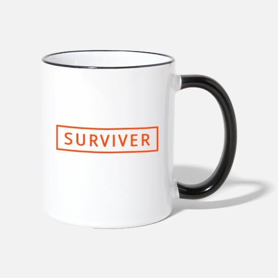 Mma Mugs & Drinkware - surviver - Two-Tone Mug white/black