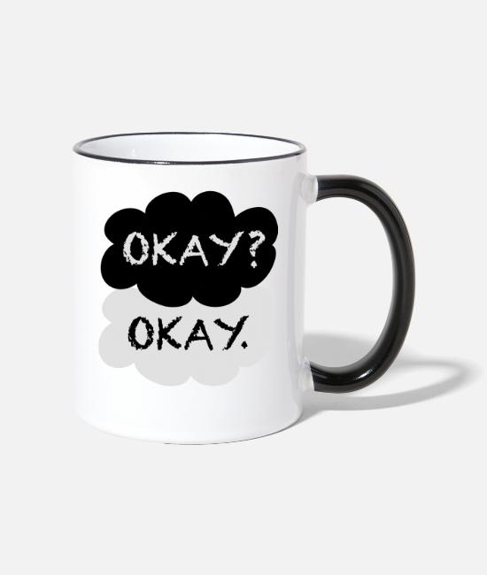 Nerdfighter Vlogbrothers Dftba Mugs & Drinkware - Okay? Okay. - Two-Tone Mug white/black