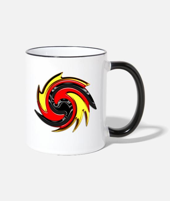 Germanic Tribes Mugs & Drinkware - Germany-Black-Red-Gold - Flag - Flag - - Two-Tone Mug white/black