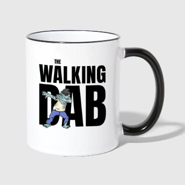 The Walking DAB Zombie Boy Dabbing Halloween sw - Tasse zweifarbig