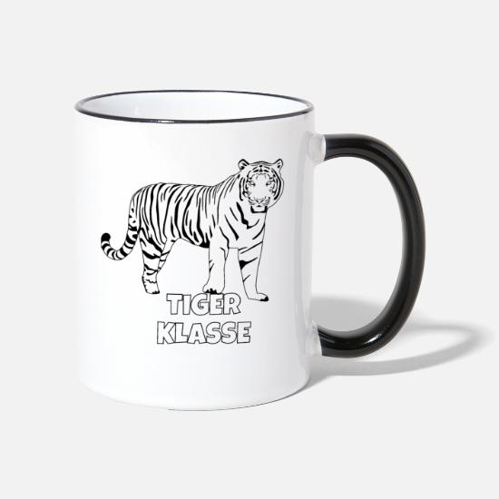 Gift Idea Mugs & Drinkware - Tiger class - Two-Tone Mug white/black