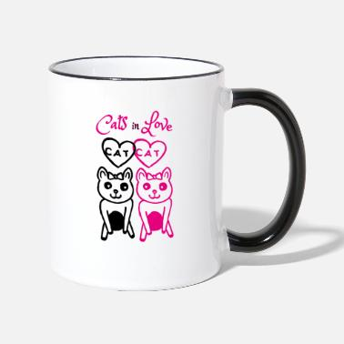 Cats In Love Cats in Love - Tasse zweifarbig