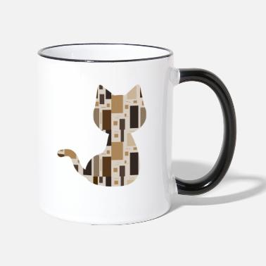 Pattern Cat pattern pattern - Two-Tone Mug