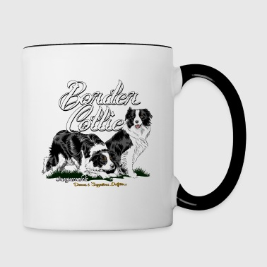 border_collie - Tasse zweifarbig