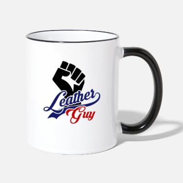 Leather Leather Guy LGBT Fetish Pride Gay Leather - Two-Tone Mug