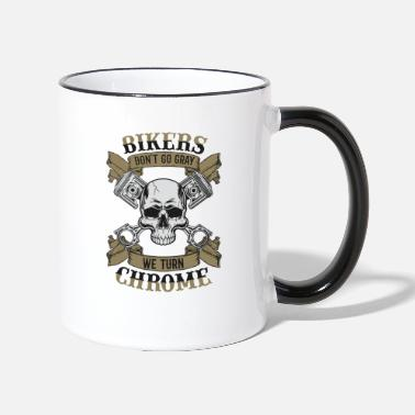 Biker Bikers Chrome (for light fabrics) - Two-Tone Mug