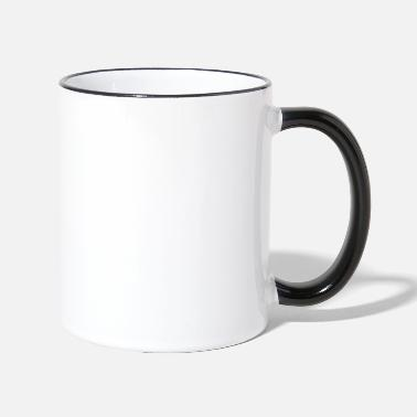 Yoga green vibes forest - Two-Tone Mug