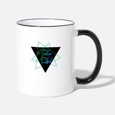 Green Rebel Tattoo Rebel Blue & Green - Two-Tone Mug