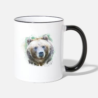 Okologie Grizzly Grizzly Tier Wild Jungle Natur - Tasse zweifarbig
