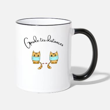 Cat Keep Your Distance Keep your distance - Two-Tone Mug